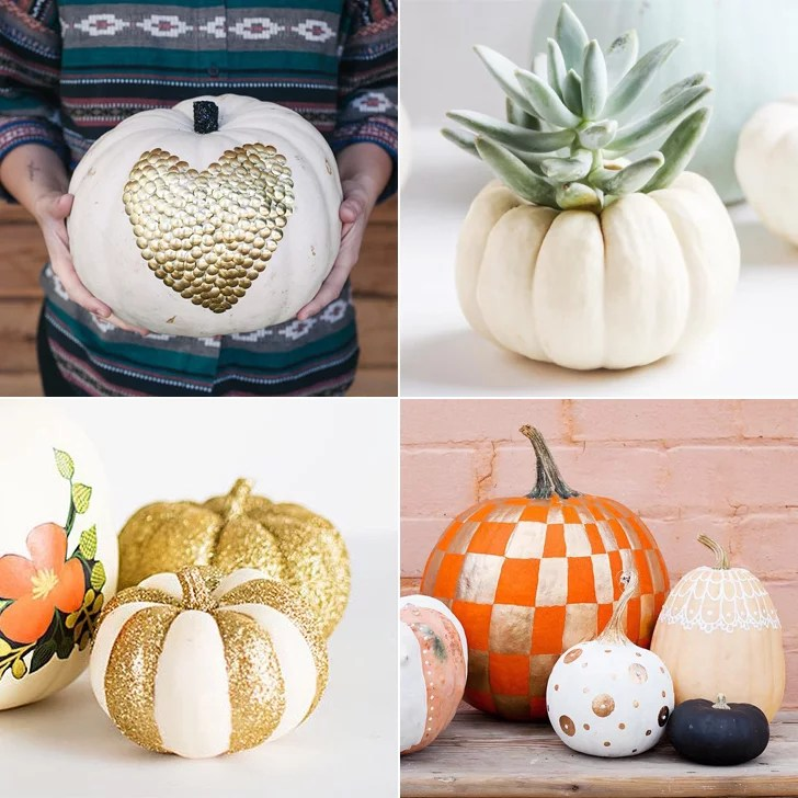 No Carve Pumpkin Ideas   POPSUGAR Smart Living No Carve Pumpkin Ideas