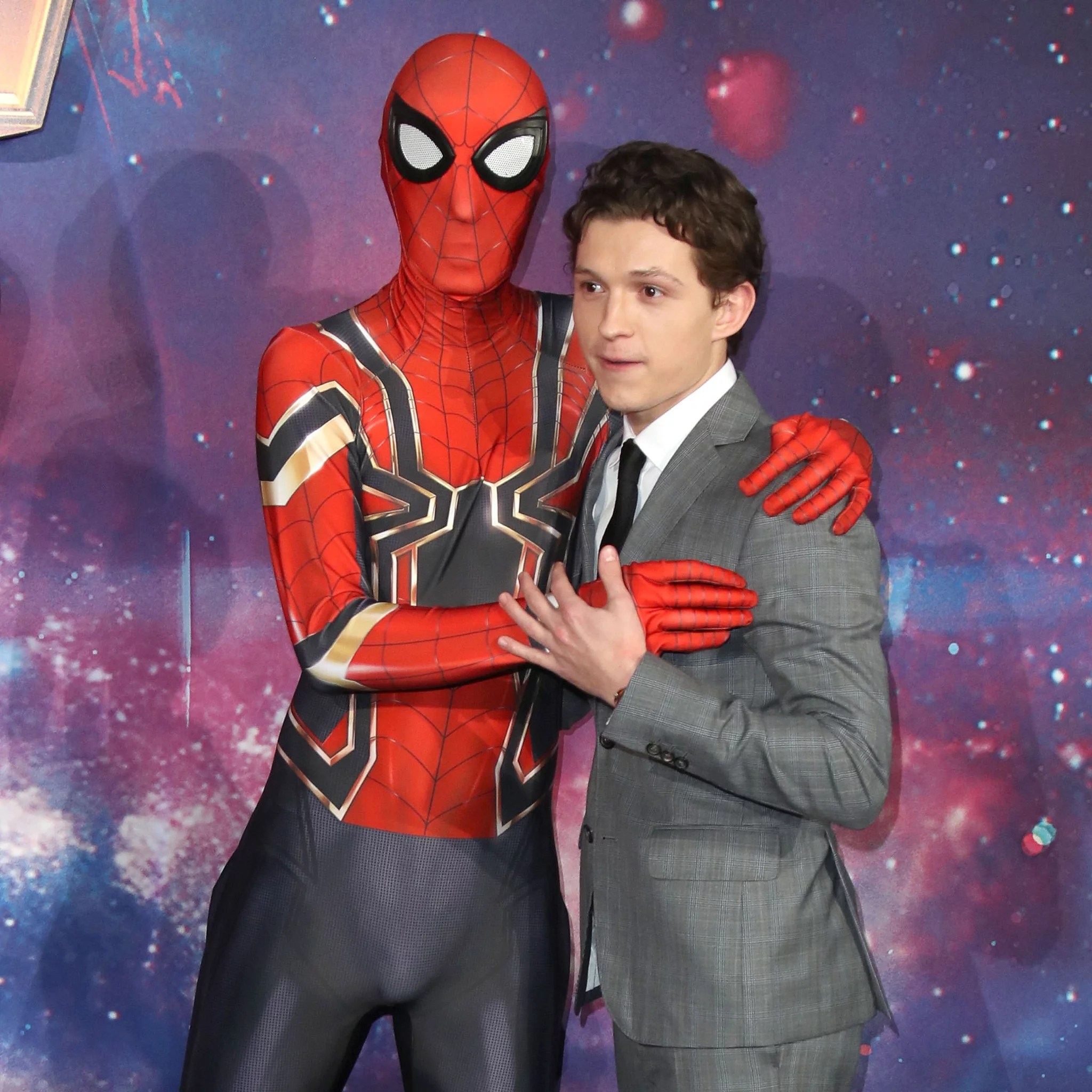 Tom Holland on Avengers  Infinity War Press Tour   POPSUGAR Celebrity