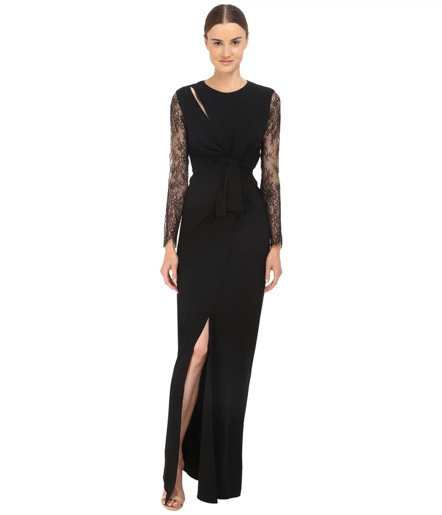 Best Wedding Guest Dresses Fall Winter Weddings best dresses for wedding The Kooples Long Tied Dress in Crepe