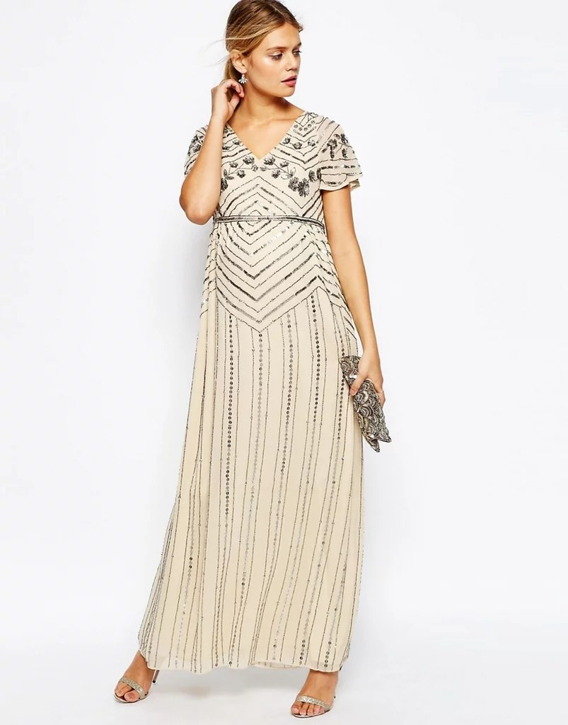 Maternity Dresses Wedding Guests maternity dress for wedding ASOS Embellished Maxi Dress