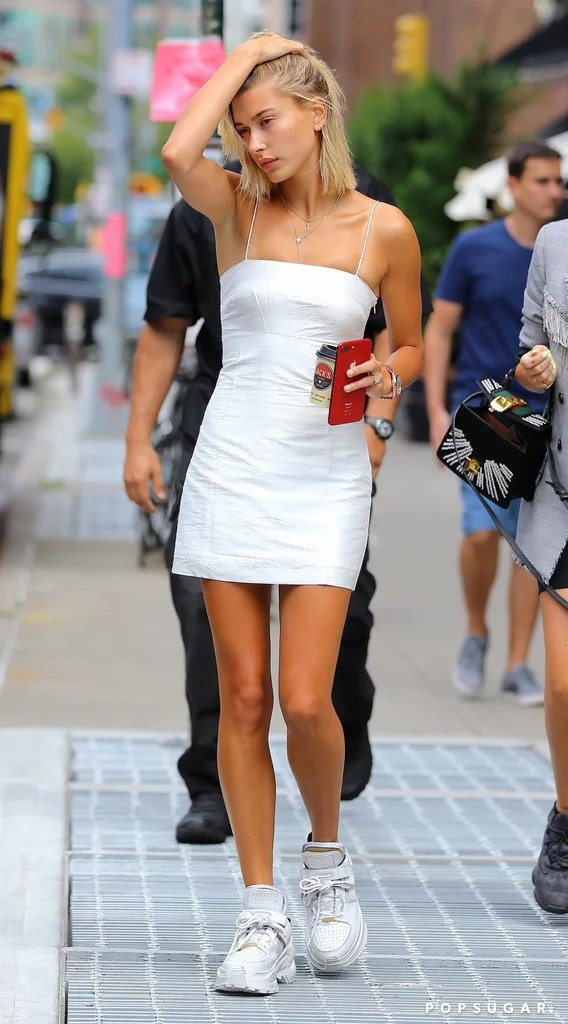 Hailey Baldwin White Minidress   POPSUGAR Fashion Hailey Baldwin White Minidress