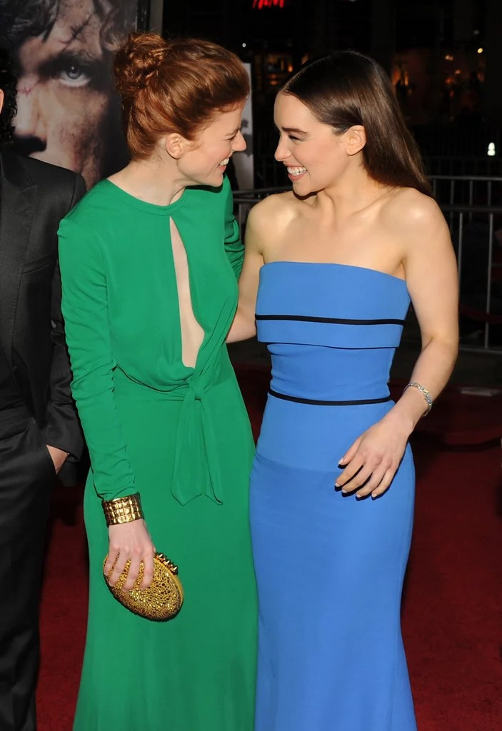 Are Emilia Clarke and Rose Leslie Friends    POPSUGAR Celebrity Kit Harington isn t the only Game of Thrones star in Emilia Clarke s group  of