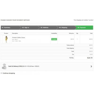 Cash On Delivery With Fee/Surcharge - Complete 100% COD - PrestaShop Addons