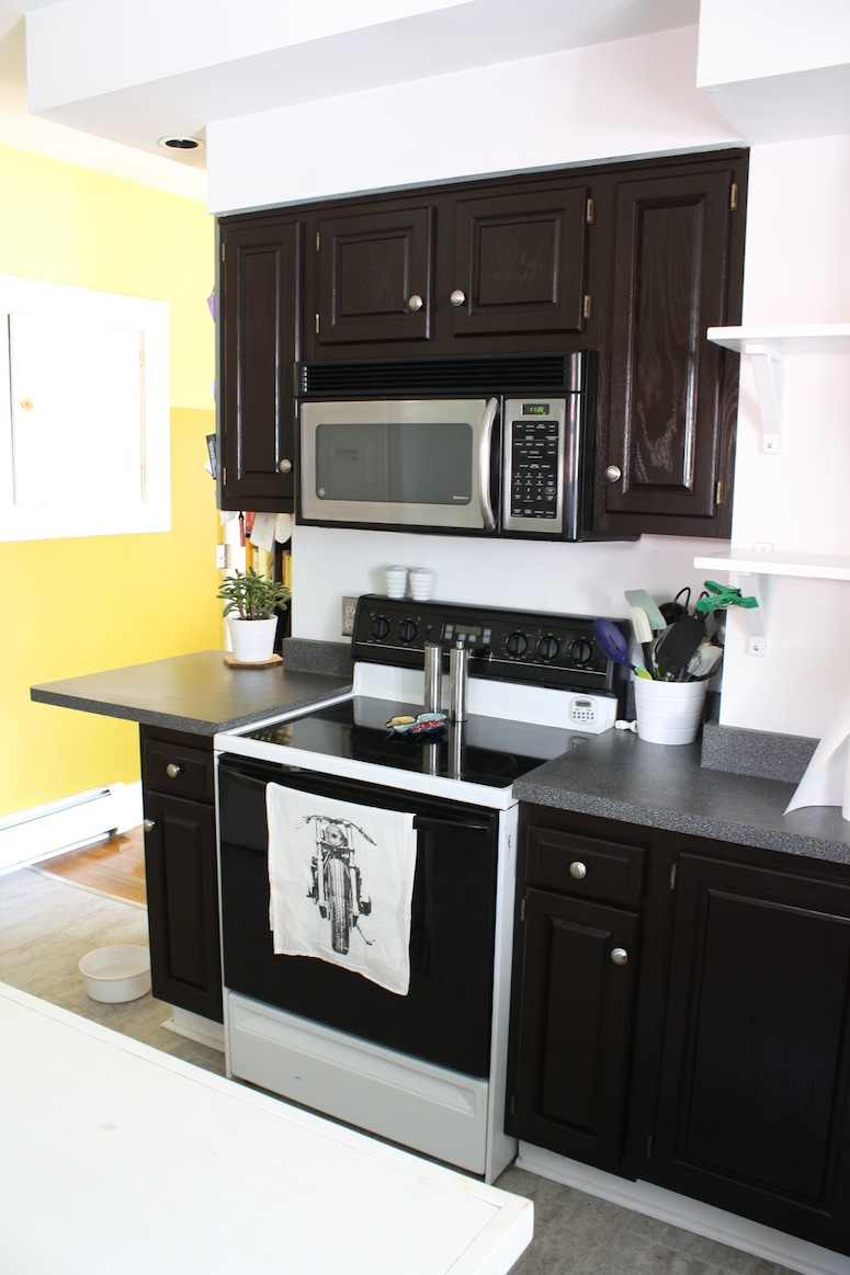 refinish oak cabinets with stain staining kitchen cabinets Wow talk about a different kitchen