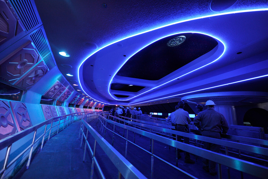 Space Mountain line queue