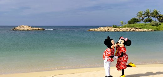 Mickey and Minnie on the beach