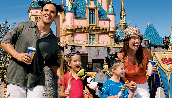 How long does an average American family save for the trip to the Disney World