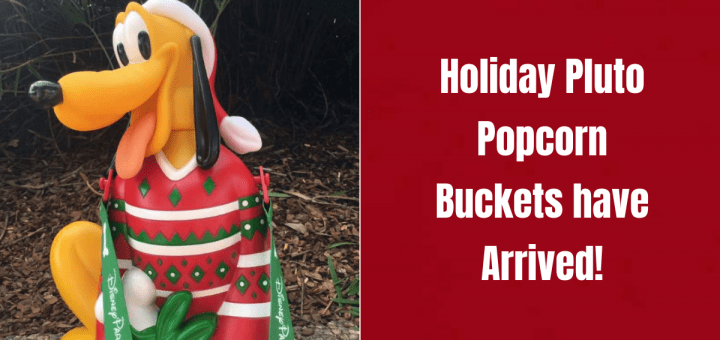Holiday Pluto Popcorn Bucket
