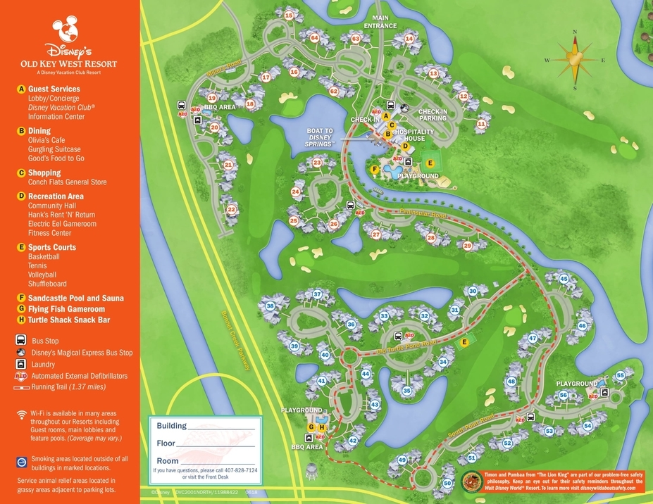 Bus Stop Changes Coming to Old Key West Resort - MickeyBlog.com Disney Springs Map on