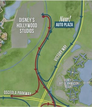 new entrance to Hollywood Studios