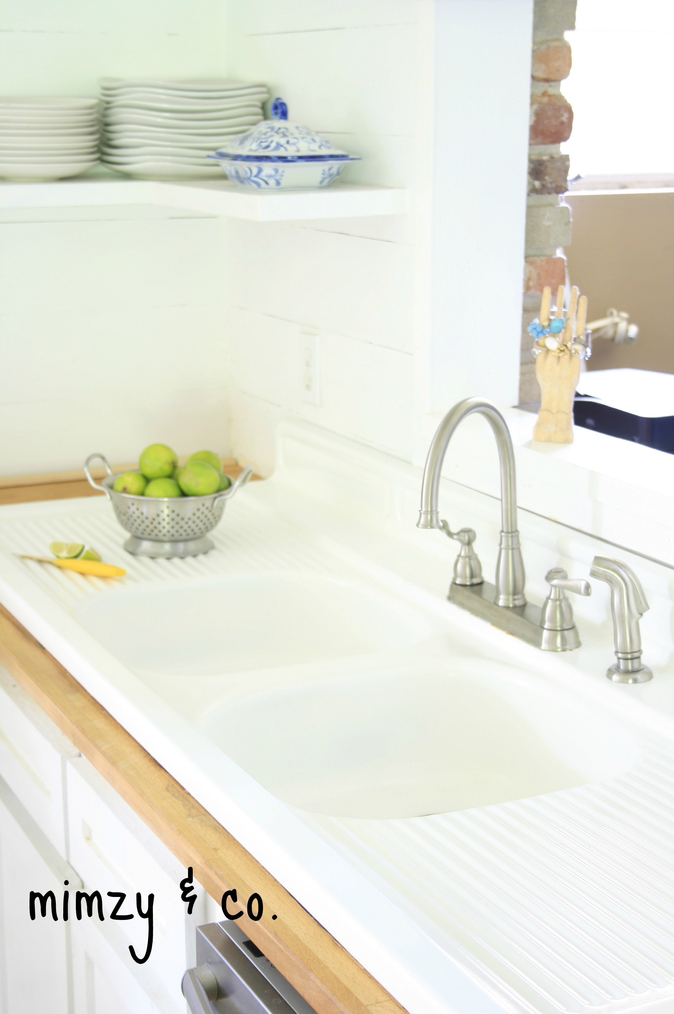 how i refinished my vintage cast iron kitchen sink refinish kitchen sink My lovely newly refinished sink