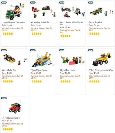 22 New 2016 sets added to Lego Shop at Home site today - Minifigure Price Guide