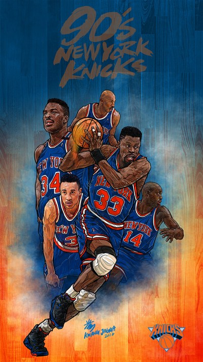 90s new york KNICKS smartphone lock screen wallpaper on Behance