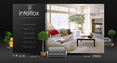 Interiox Interior Design Agency HTML5 Template on Behance