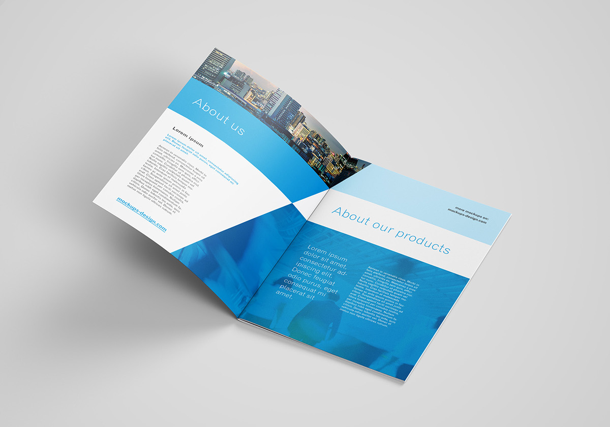 Free A4 brochure mockup on Behance Free A4 brochure mockup