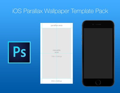 Free iOS Parallax Wallpaper Template Pack on Behance