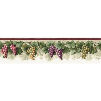 Shop allen + roth 6-in Purple Prepasted Wallpaper Border at Lowes.com