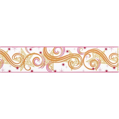 Shop York Wallcoverings 6.75-in Multicolor with Glitter Prepasted Wallpaper Border at Lowes.com
