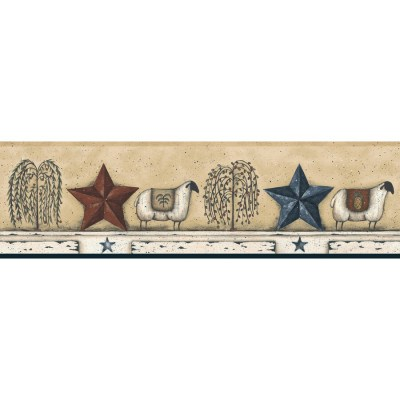 Shop York Wallcoverings 6-in Almond Prepasted Wallpaper Border at Lowes.com
