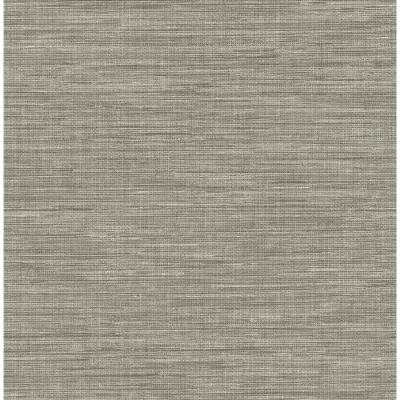 Brewster Wallcovering Solstice 56.4-sq ft Grey Non-Woven Grasscloth Wallpaper at Lowes.com