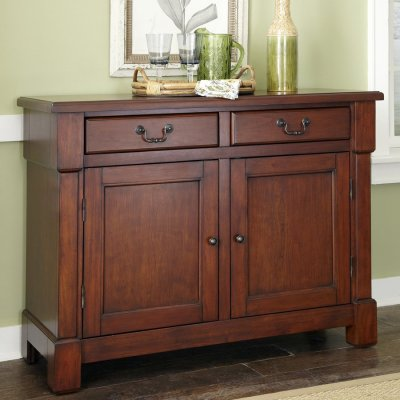 Home Styles Aspen Rustic Cherry Sideboard at Lowes.com
