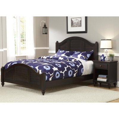 Home Styles Bermuda Espresso Queen Panel Bed at Lowes.com