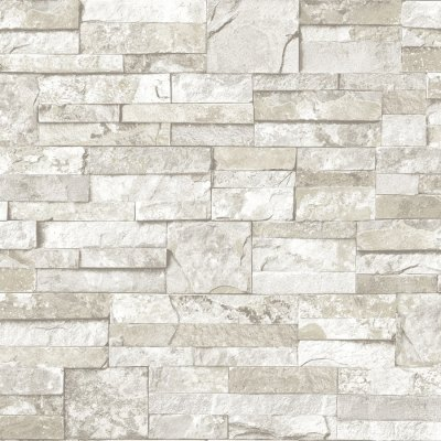 Shop allen + roth White and Gray Peelable Vinyl Prepasted Textured Wallpaper at Lowes.com