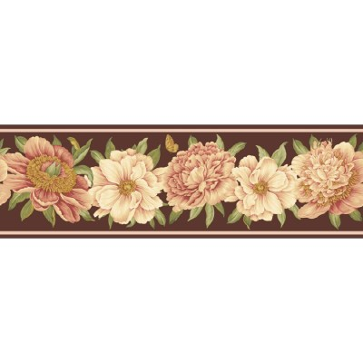 Shop Waverly 7.5-in Brown Unpasted Wallpaper Border at Lowes.com