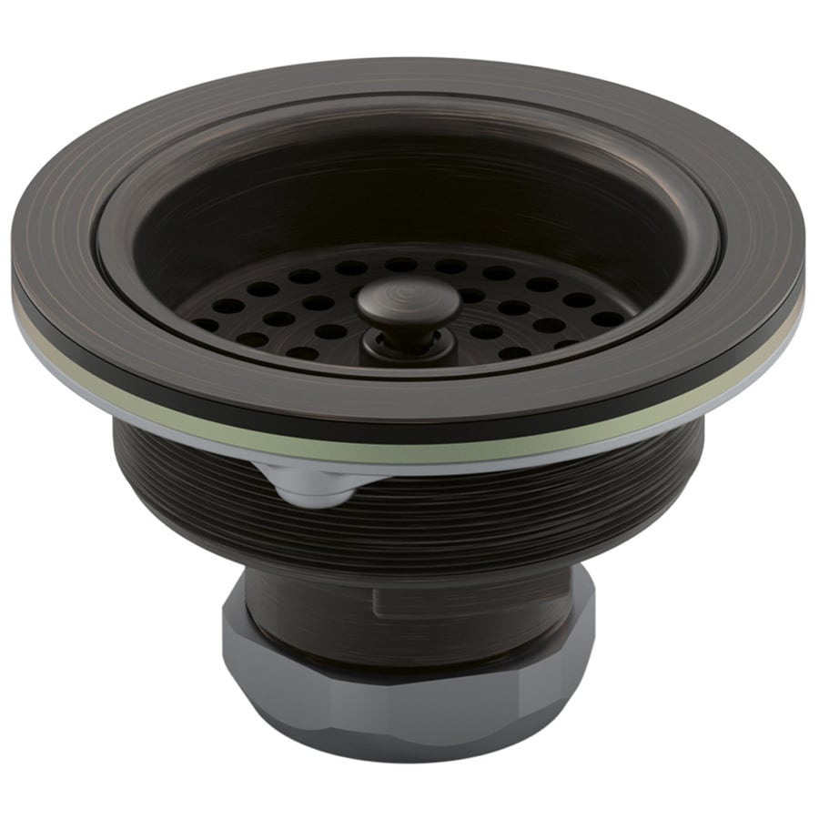 oil rubbed bronze basket strainer kitchen sink kohler kitchen sinks Kohler 4 5 In Kitchen Sink Strainer At Lowes