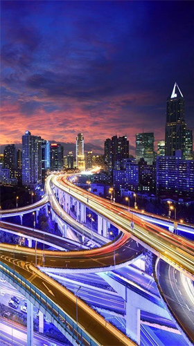 City at night by Live Wallpaper HQ live wallpaper for ...
