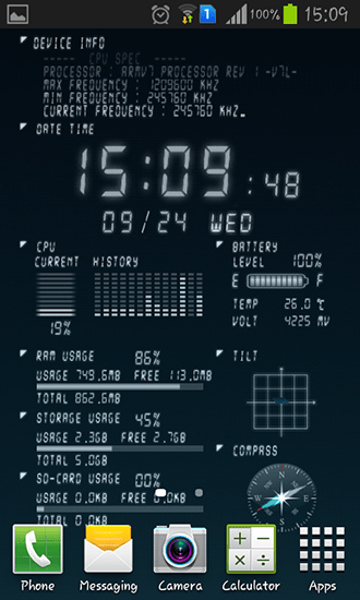 Device info live wallpaper for Android. Device info free download for tablet and phone.
