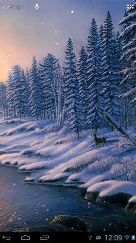 Winter snow by HD WALL MEDIA live wallpaper for Android. Winter snow by HD WALL MEDIA free ...
