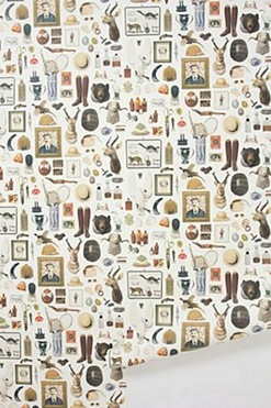New Antiquitarian wallpaper from Anthropologie - Retro to Go