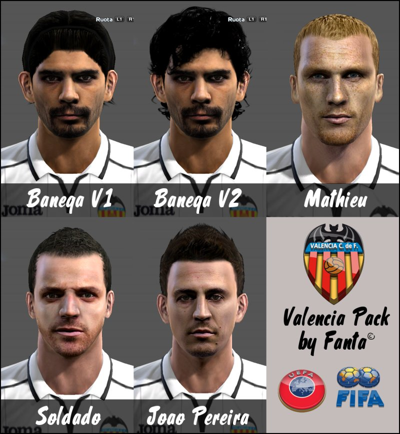 pes 2013 valencia face pack