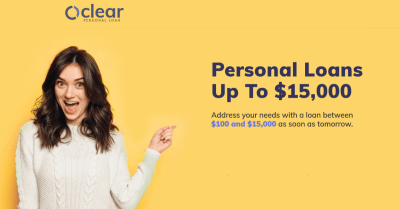 Clear Personal Loan Review | Personal Loans Up to $15,000 in 24 Hours