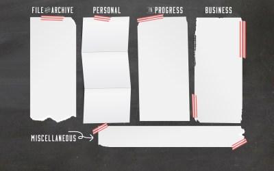 Chalkboard Computer Desktop Wallpaper Organizer | Free Download