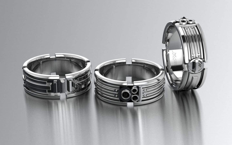 mosesjewelers star wars wedding bands prev next