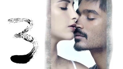 Picture 110513 | Dhanush Shruthi 3 Movie Wallpapers | New Movie Posters