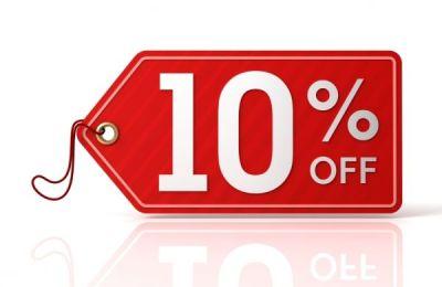 Selo 10% Desconto - Gráfica ADVANCE Comércio e Serviços