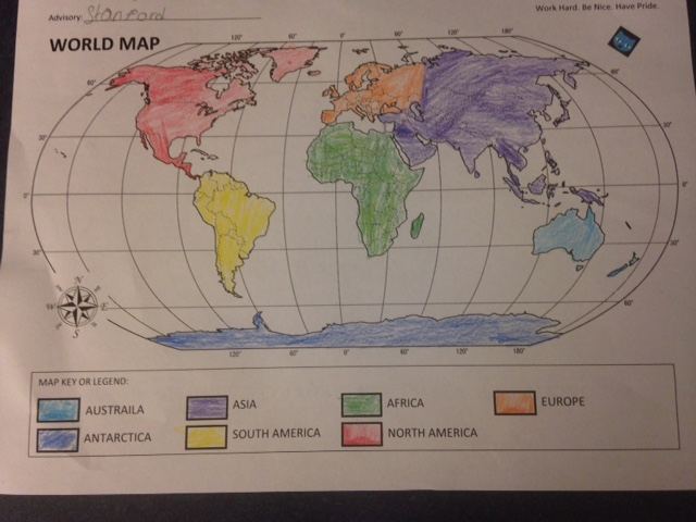 What is geography    American History The map should include a map title  a compass rose  and a map key or legend