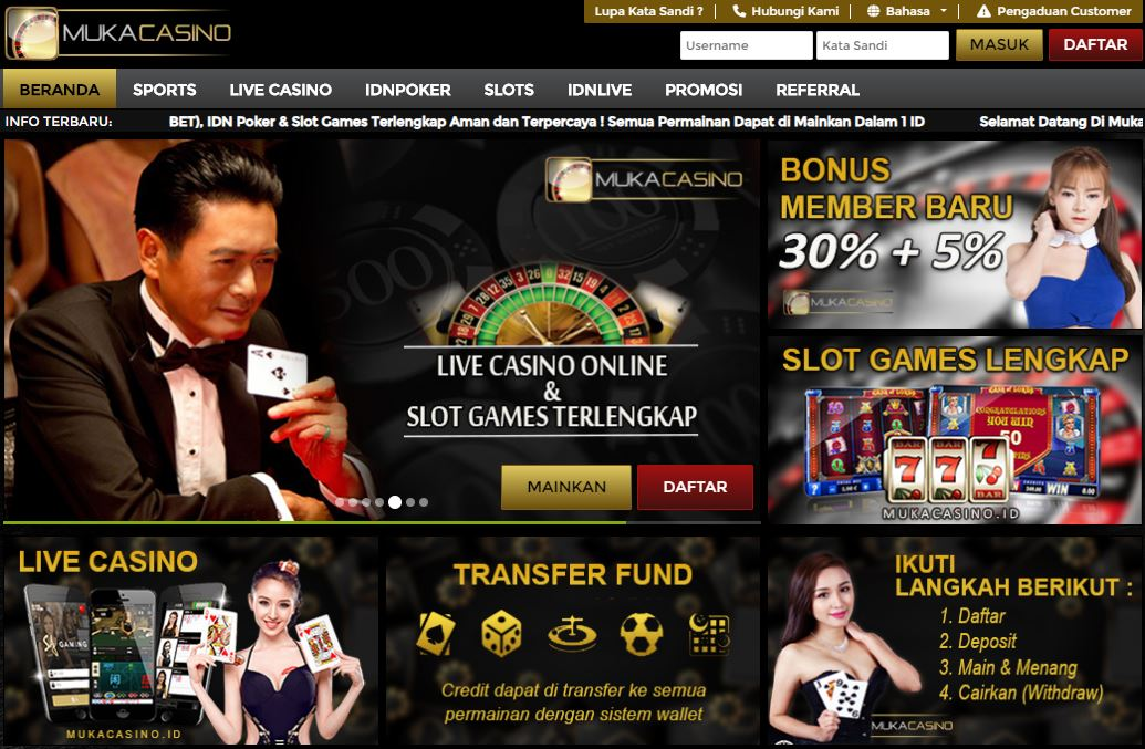 New MukaCasino Sbobet Casino Indonesia