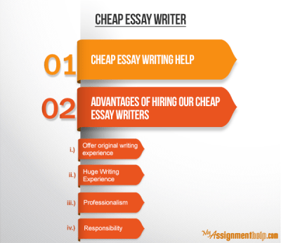 Cheap Essay Writers & Best Cheap Essay Writing Services