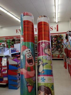 FREE Dora or SpongeBob Wrapping Paper at Dollar Tree - MyLitter - One Deal At A Time