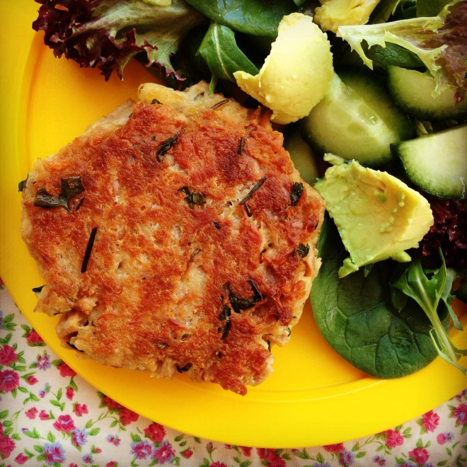 tuna cakes - my lovely little lunch box