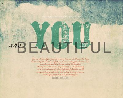 You are beautiful — Free desktop wallpaper (my wings are made of faith)