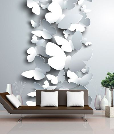 Buy FineArts Digitally Printed Wallpaper - 3D Butterflies With Printed 3D Show Pieces Online at ...