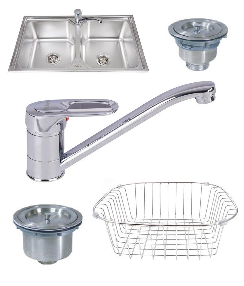 designer kitchen sinks Futura Designer Kitchen Sink FS With Free Drainer Kit Faucet Soap Dispenser