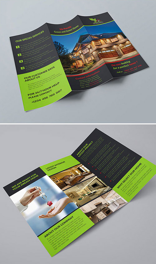A Collection of Effective Real Estate Brochure Designs and Layouts     real estate brochure