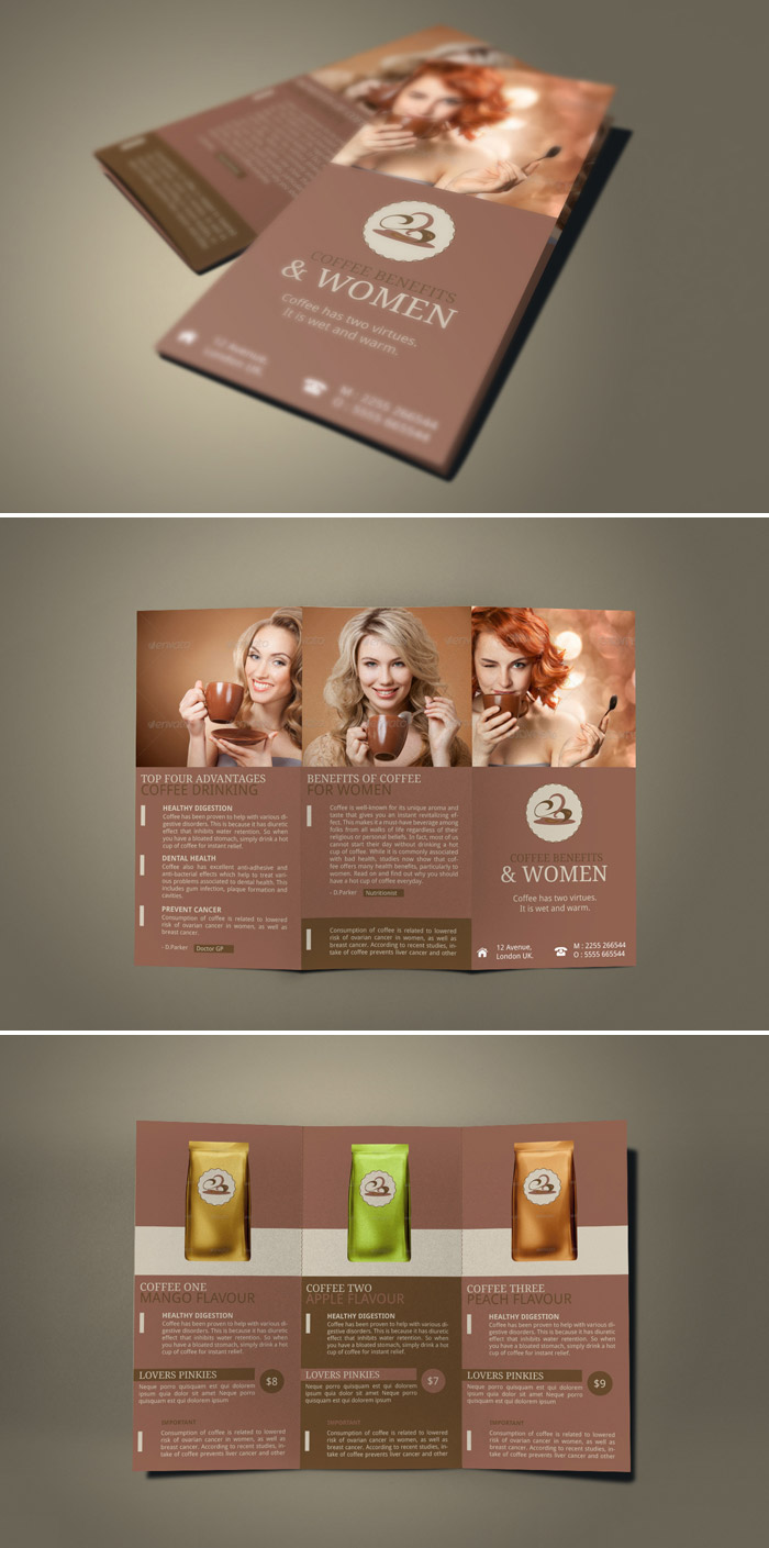 15 Refreshing Coffee Shop Brochure Designs   Naldz Graphics shop brochure designs