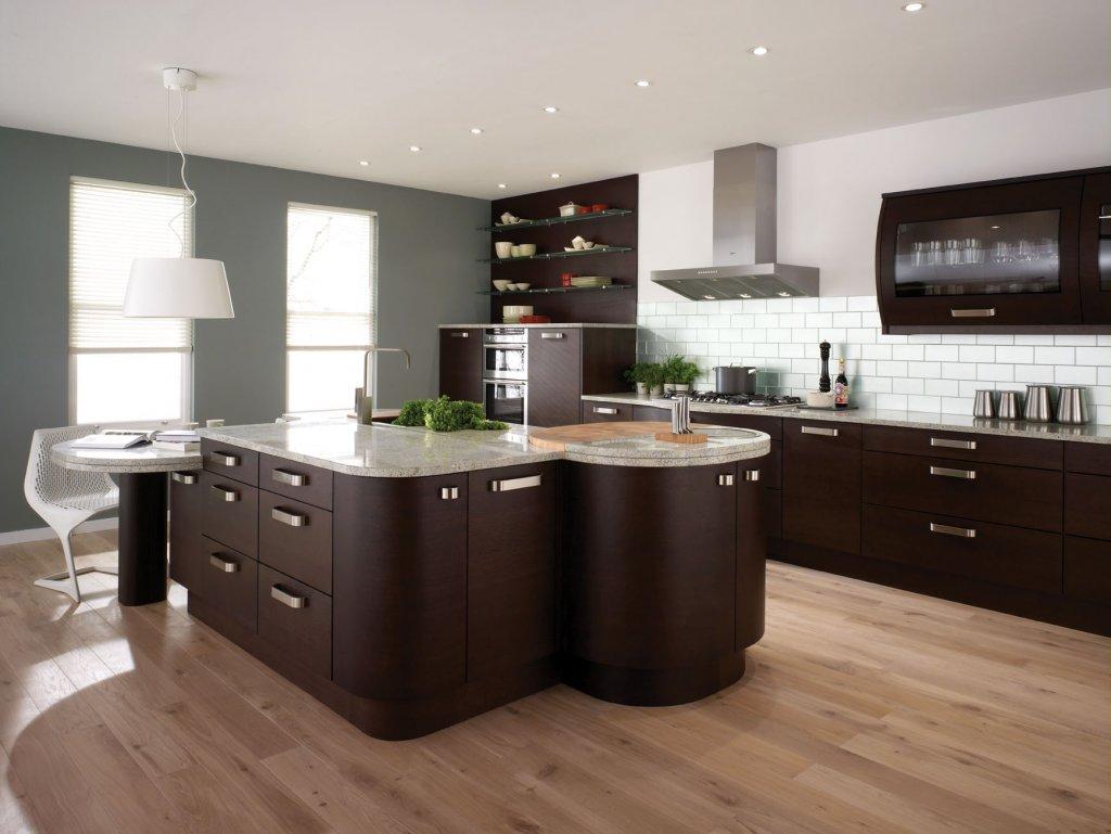 kitchen tile trends wood floor in kitchen Image